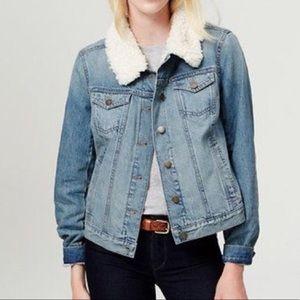 Vici Loft Shearling Jean jacket